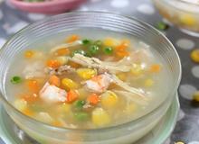 Món ngon cho Bé: Súp gà, tôm và rau củ