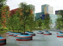 Độc đáo rừng nổi ở Rotterdam
