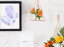 Làm giỏ hoa lơ lửng treo trang trí nhà thật xinh và ấn tượng
