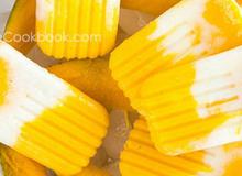 Kem xoài sữa chua siêu nhanh không cần dùng máy