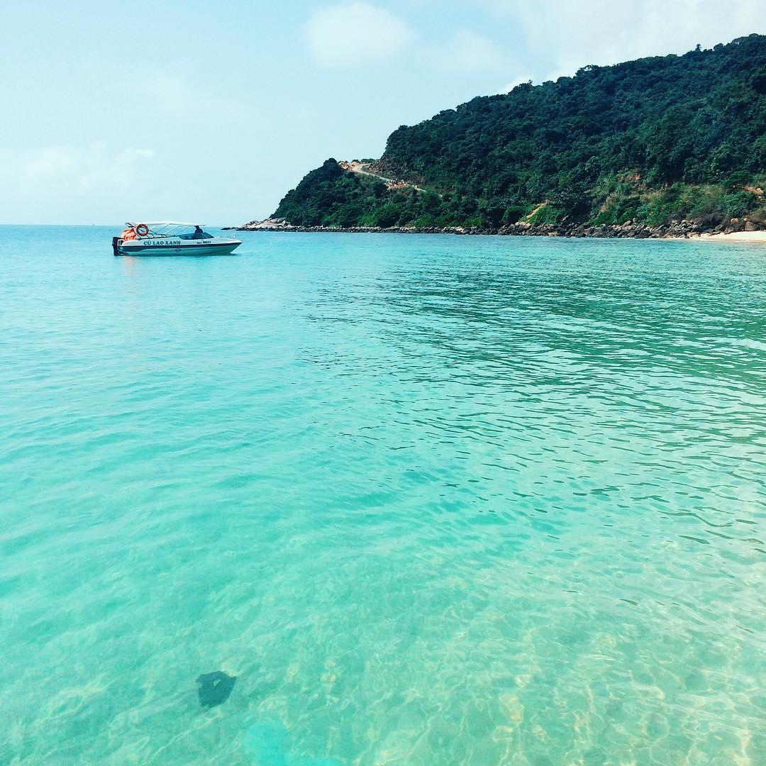 Biển Cù Lao Chàm hoang sơ. Ảnh: quynhtrangqn/instagram