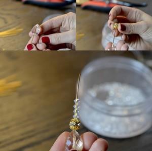 Tự chế khuyên tai hình giọt nước xinh lung linh 2