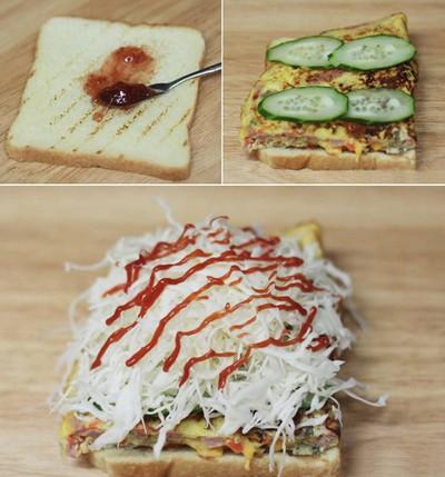 Bánh kẹp sandwich thơm ngon cho bữa sáng đầy dưỡng chất 12