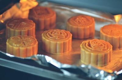 cách làm bánh trung thu sữa dừa - nướng bánh