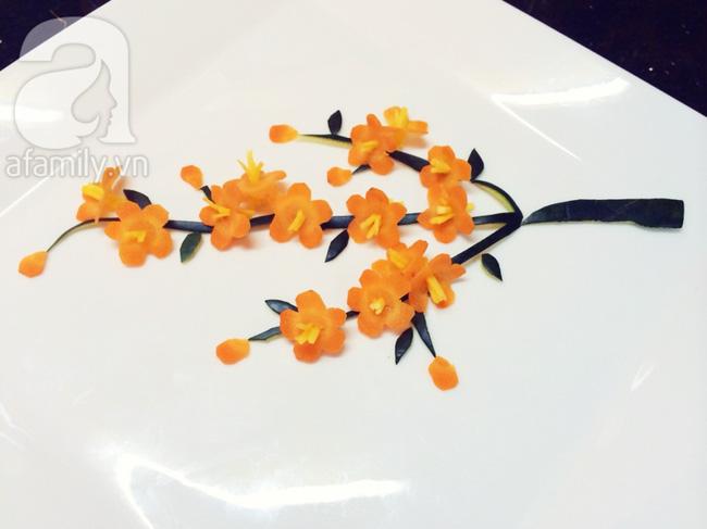 Để trang trí đĩa ăn ngày Tết đừng bỏ qua cách tỉa hoa siêu đơn giản sau đây! - Ảnh 4.
