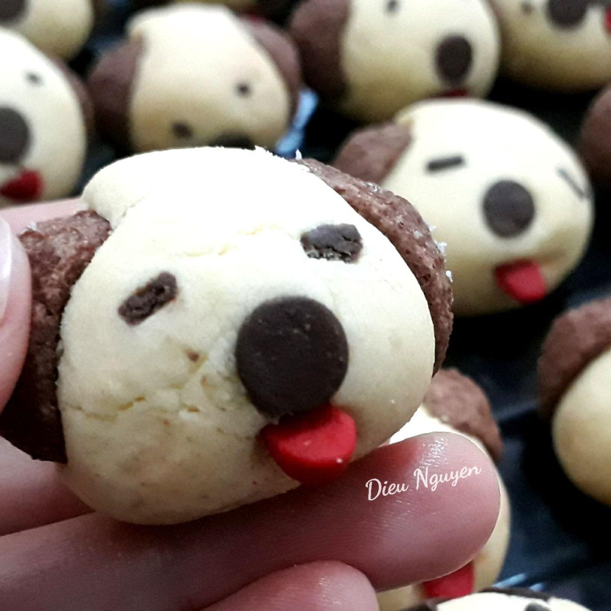 Cookie tạo hình cún con dễ thương cho bé
