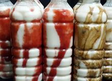 Cách làm sữa chua uống, sữa chua dâu tây, chocolate