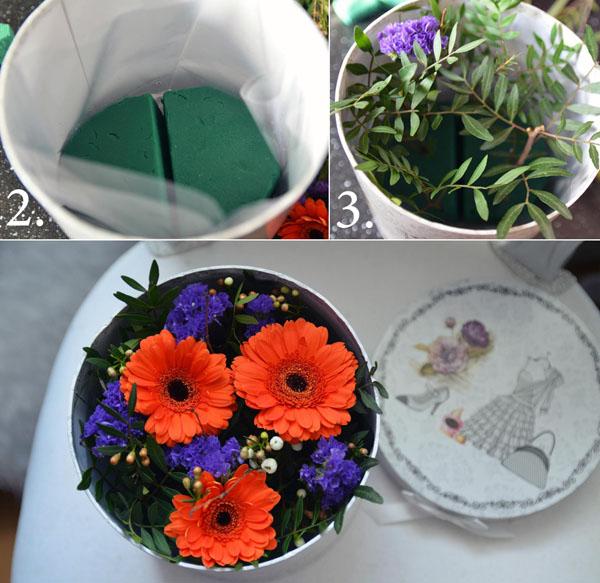 3 cách cắm hoa trong hộp quà xinh lung linh bạn cần bỏ túi - Ảnh 8.