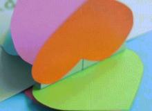 Tự làm thiệp sinh nhật 3D trái tim cầu vồng bảy sắc nổi bần bật