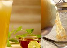 Tự pha trà xanh chanh mật ong giảm cân