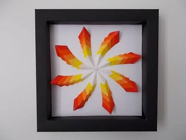 Tranh 3D giấy hiệu ứng lạ đẹp trang trí nhà đầy cá tính - Ảnh 9.