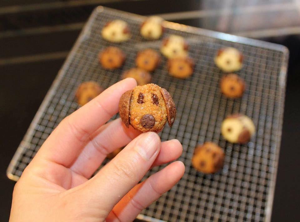 Cookies chuối hạnh nhân ( tạo hình cún con )