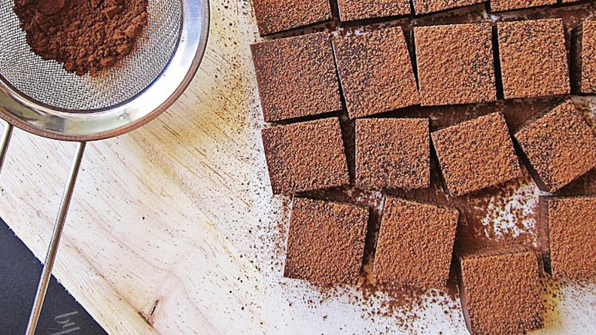 Món nama chocolate cho Valentine với 4 nguyên liệu