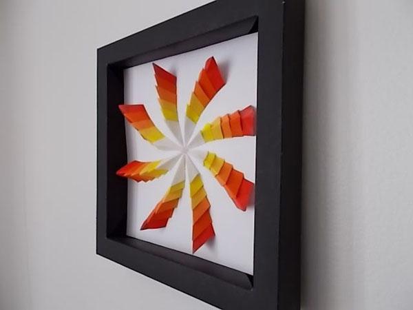 Tranh 3D giấy hiệu ứng lạ đẹp trang trí nhà đầy cá tính - Ảnh 10.