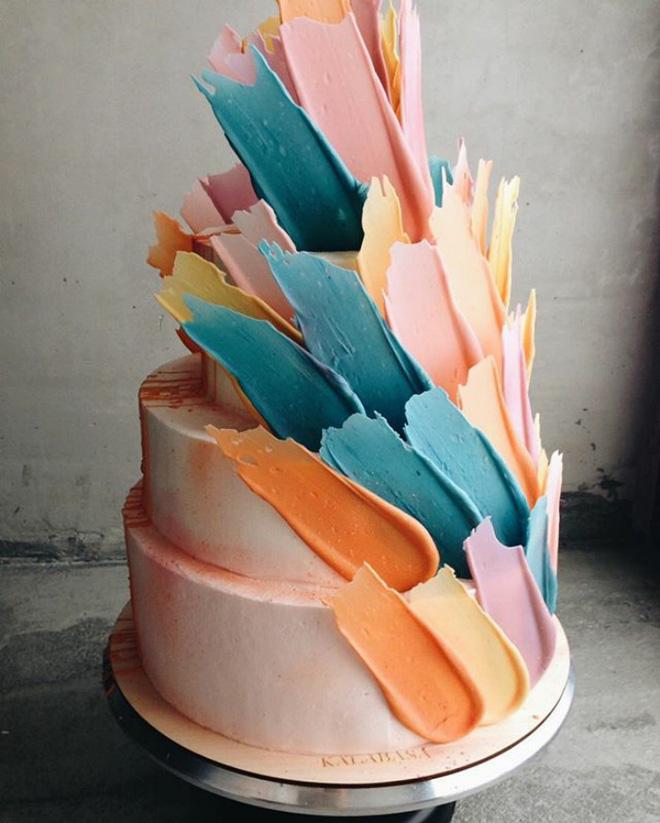 Chiêm ngưỡng tuyệt tác bánh ngọt - Brushstrokes cake đang gây bão mạng xã hội Instagram - Ảnh 1.