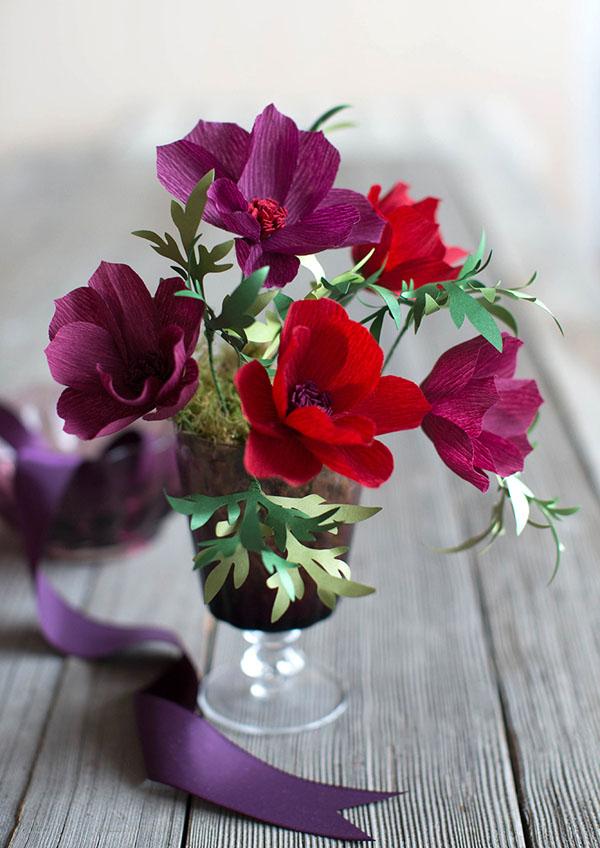 2 cách làm bình hoa giấy sắc đỏ rực rỡ đón xuân - Ảnh 7.
