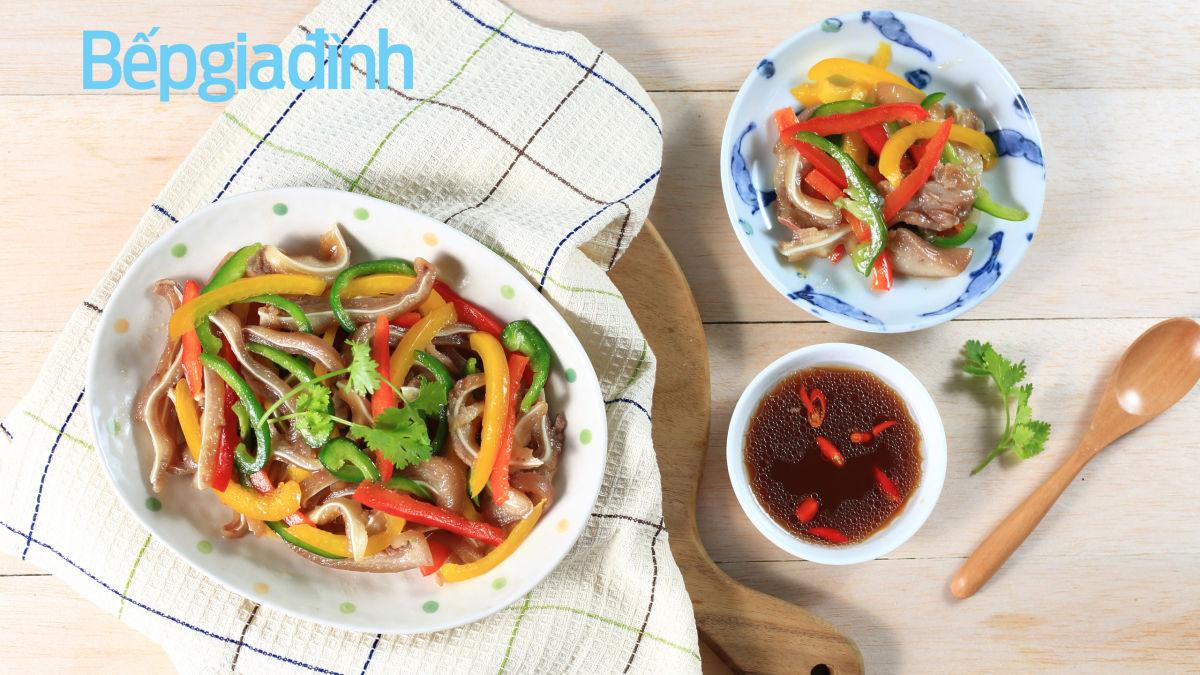 Món ngon ngày Tết: Tai heo khìa xào nước tương cho bữa cơm nhà