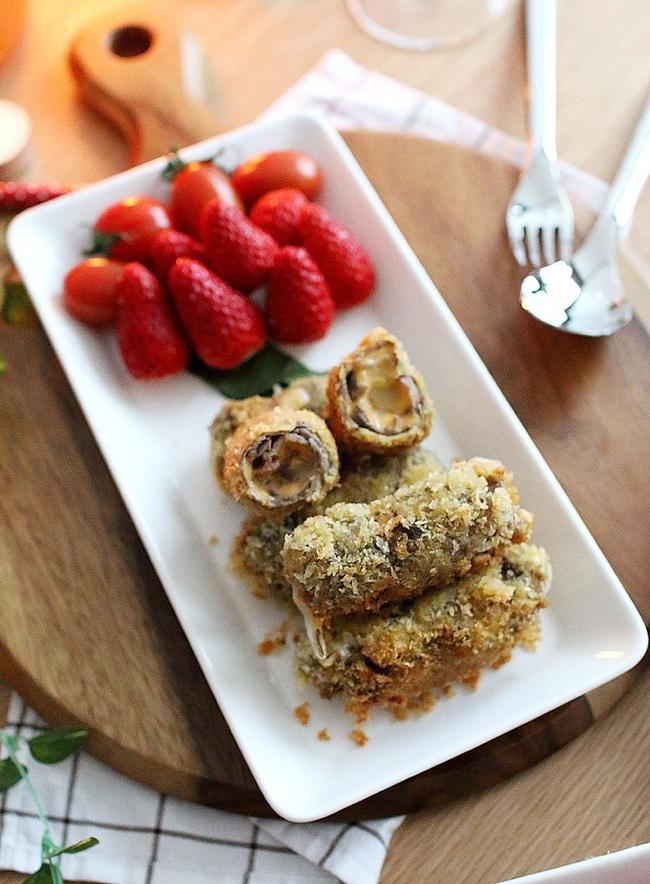 Món ngon cuối tuần: Bò cuộn phô mai chiên xù - Ảnh 8.