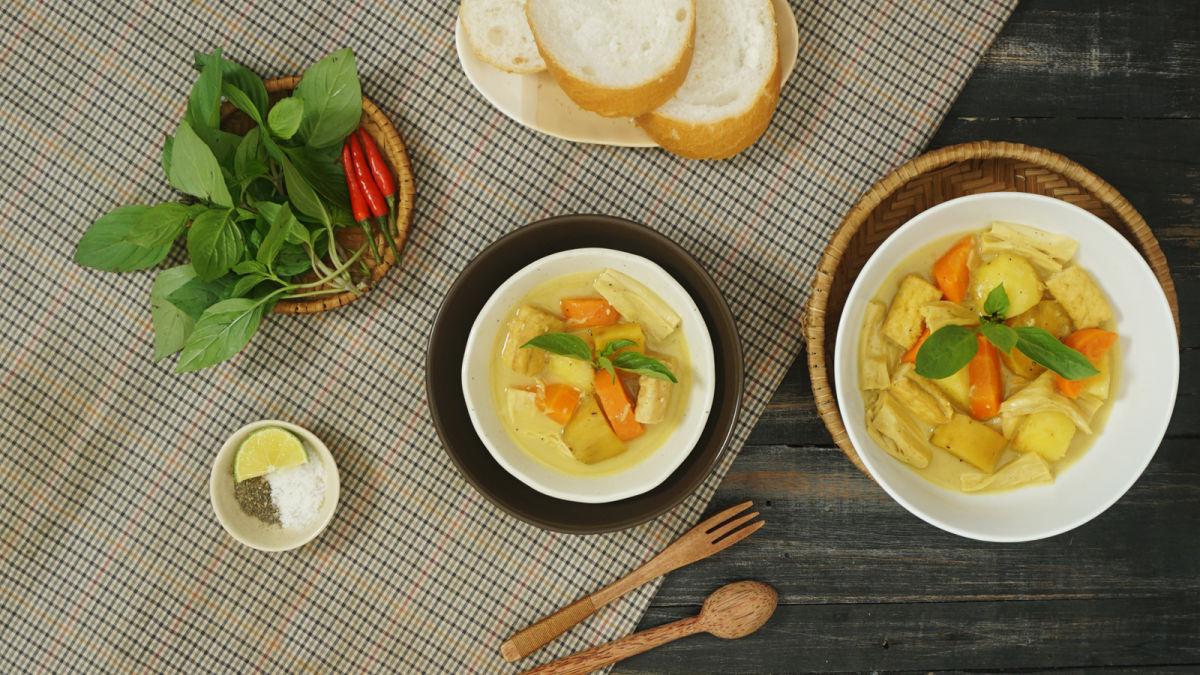 30 phút cho món Cà-ri chay ngon tuyệt Tết Nguyên Tiêu