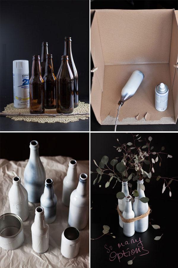 5 cách tái chế chai lọ thành bình cắm hoa đẹp siêu đơn giản - Ảnh 4.