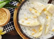 Chè chuối bột báng nước dừa ngon như ngoài hàng