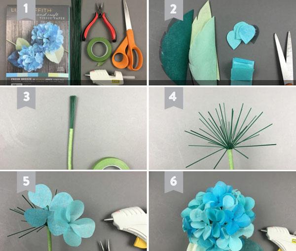 3 cách làm hoa giấy sắc màu trang trí đón Tết về - Ảnh 6.