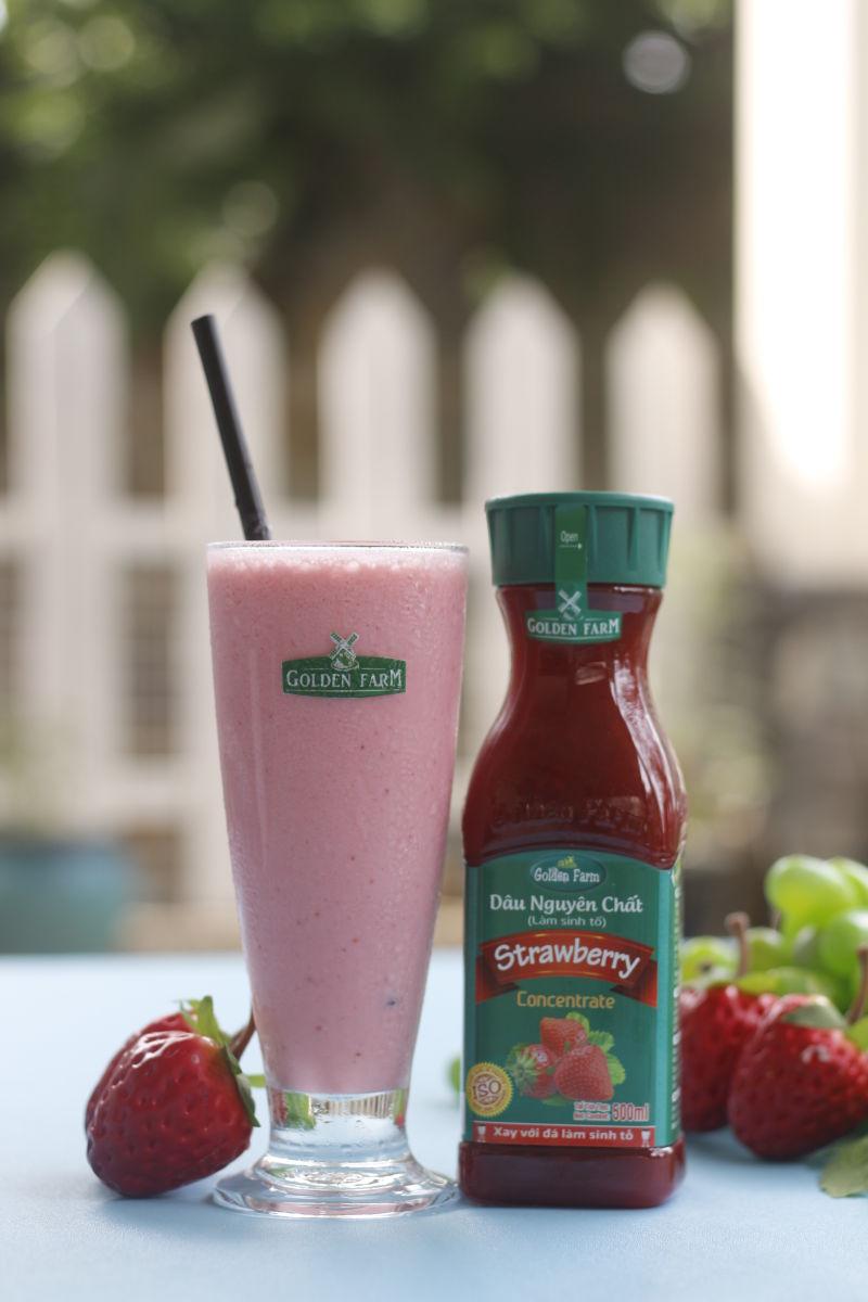 Sinh tố dâu sữa chua đẹp da