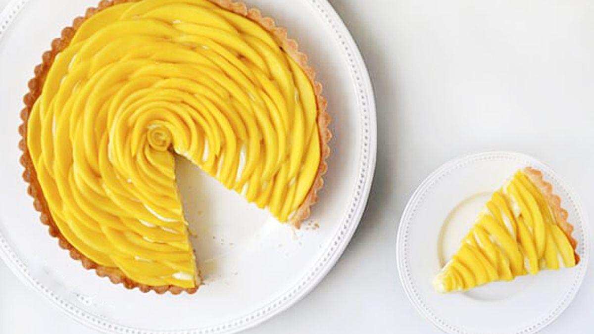 Làm bánh tart xoài kem vani chỉ 25 phút