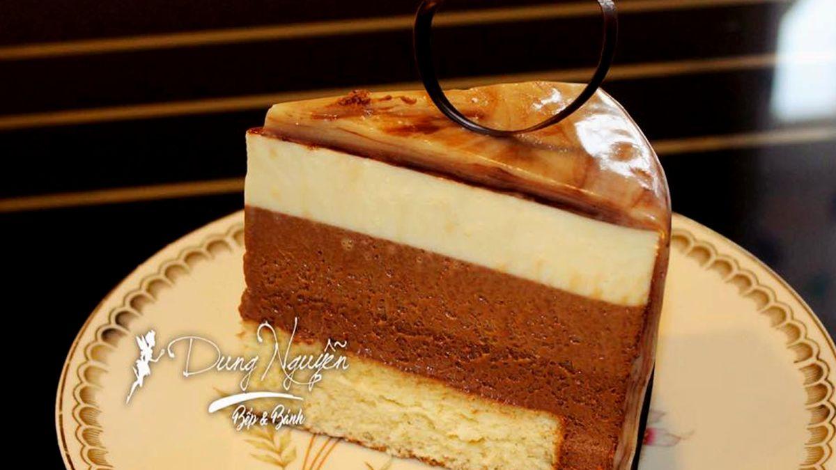 Cách làm bánh mousse chocolate 3 tầng