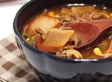Canh thịt bò nấu giá đỗ thanh ngọt ngon cơm