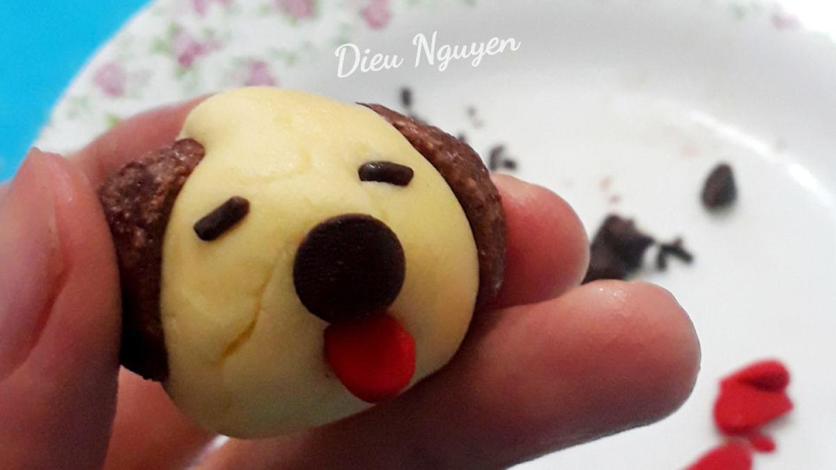 Làm bánh cookie tạo hình cún con dễ thương cho bé