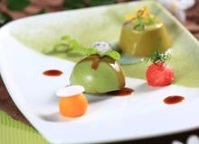 Món ngon mùa Xuân: Bánh trà xanh, sốt caramel