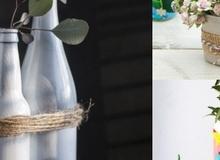 5 cách tái chế chai lọ thành bình cắm hoa đẹp siêu đơn giản