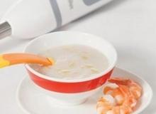 Món ăn dặm bổ dưỡng cho bé: Bột khoai từ tôm tươi